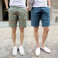 100-Cotton-2014-New-Brand-EuropeStyle-Men-s-Print-Silm-Fit-Casual-Cargo-Summer-Leisure-Shorts