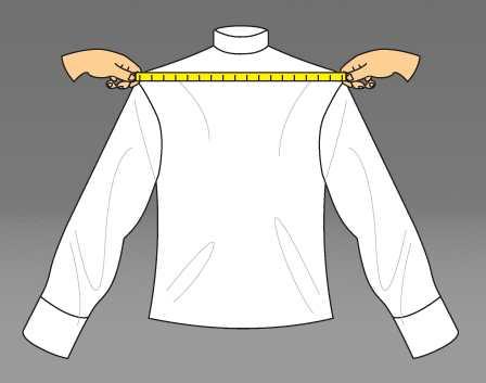 Измеряем размер плеча мужчины
