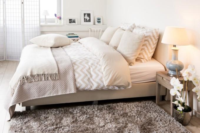 светлое постельное белье из бязи