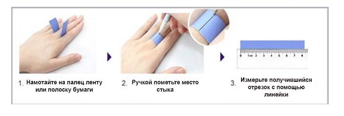 Как узнать размер пальца у девушки в домашних условиях 671
