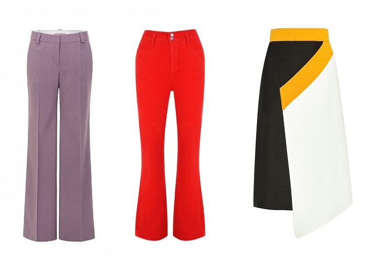 Подходящие для фигуры яблоко юбки и брюки