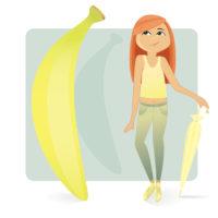 Тип фигуры банан (прямоугольник)